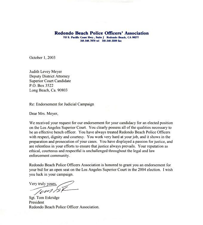 Sample Business Association Letter